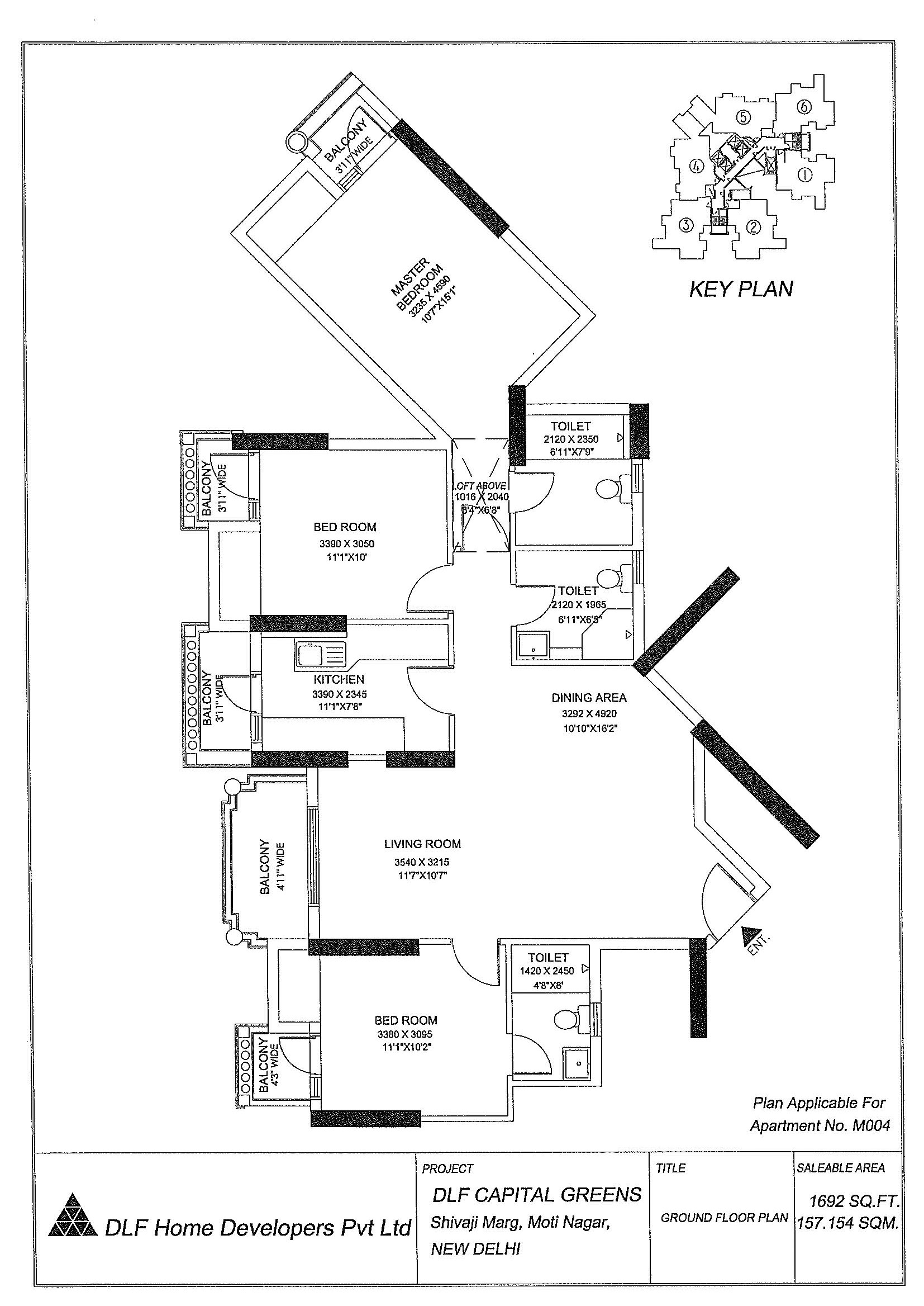 Area - 1692 Sq. Ft.