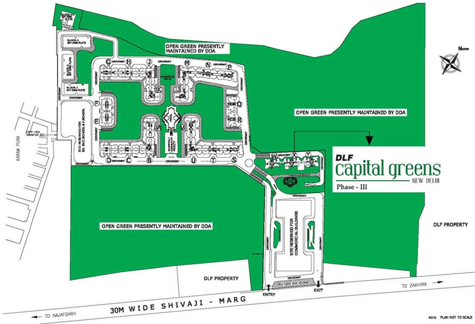 Master Plan DLF Capital Greens Phase 2 Resale Apartments