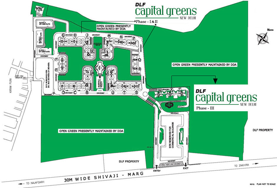 Master Plan DLF Capital Greens Phase 3 Shivaji Marg